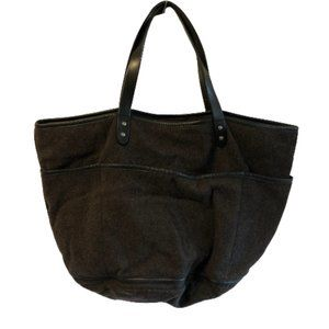 J. Jill Large Wool & Leather Carry-All Bag